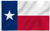 ANLEY® [Fly Breeze] 1.2m x 1.8m Texas State Polyester Flag - Vivid Colour and UV Fade Resistant - Canvas Header and Double Stitched - Texas State Flags with Brass Grommets 1.2m X 1.8m