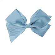 Clip Grosgrain Bow - Baby Blue
