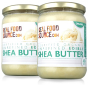 RealFoodSource Certified Organic Unrefined Edible Shea Butter (2x450g/500ml
