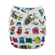 LilBit Christmas Design Washable Baby Cloth Nappies With 2 Microfiber Inserts