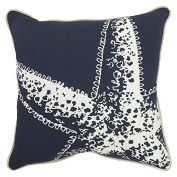 Jtartstore Awesome Target Patio Threshold Toss Pillow Navy Starfish Design 46cm x 46cm