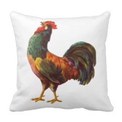 Jtartstore Crowing Rooster Vintage Crate Art Pillow Throw Cushions 46cm x 46cm