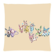 Jtartstore Cute Eevee Baby Cotton and linen Home Decoration Pillow Cushion Cover 46cm x 46cm for bed sofa car Q33