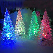 Calcifer®3Pcs Colourful 7 Colour Change Crystal Christmas trees Toys Gift For Home Garden Decoration