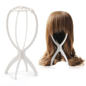 tinkertonk Wig Display Stand Mannequin Dummy Head Hat Cap Hair Holder Folding Stable Tool