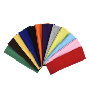 eBoot 12 Pcs Stretch Elastic Yoga Cotton Headbands Mixed Colours for Teens, Girls and Women