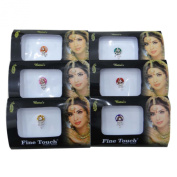 Banithani 4 Full Pack Assorted Different Multicolour Bindi Forehead Indian Tattoo Stickers