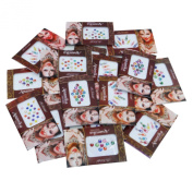 Banithani Lot of 18 Full Packets Assorted Bindis Exclusive Indian Temporary Tattoos Tikka