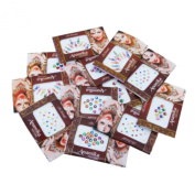 Banithani Wholesale Lot of 12 Pcs Full Sheets Of Bindis Traditional Frehead Tattoos Stickers