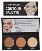 City Colour CONTOUR KIT/SET PALETTE Contour/Bronze Bronzer/Highlighter with guide