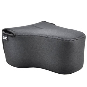 Universal Water Resistant Neoprene Camera Case Protective Cover for Large SLR DSLR Cameras with Lens in Black