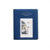 YIYO 64 Pockets 7.6cm Piece of Moment Candy Colour Fuji Instax Photo Mini Book Album or Name Card for Instax Mini 70 7s 8 25 50s 90 Film/ Pringo 231/ Fujifilm Instax SP-1/ Polaroid PIC-300P/ Z2300-Navy