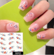 Nail Art Water Transfer Stickers - G012 Nail Sticker Tattoo - FashionLife