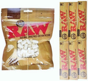 6 Booklets of Raw Classic King Size Rolling Paper & 1 Pack Of Regular Filter Tips By MakBros