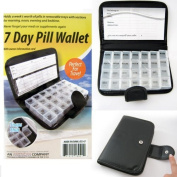 Deluxe 7 Day Pill Organiser Dispenser Box In Wallet Weekly Medicine Travel Case by ATB