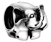 Nenalina Partially-Oxidised High Elephant Bead in 925 Sterling Silver-For Pandora style bracelets, 719151-000