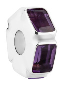 Nenalina Purple Amethyst Bead in 925 Sterling Silver, also compatible with Pandora Bracelets 718046-015