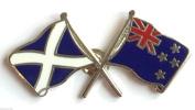 Scotland & New Zealand Flags Friendship Courtesy Enamel Lapel Pin Badge