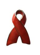 NEW Red Ribbon Charity Ribbon Awareness Brooch Pin HIV Aids Stroke Heart Disease