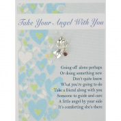 Take Your Angel With You Guardian Angel Lapel Pin & Inspirational Message Card Gift