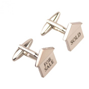 Salutto Men's For Sale Sold Realtor Cufflinks with Gift Box