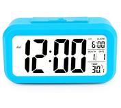Viskey Creative LED Digital Alarm Clock Thermometer, Blue