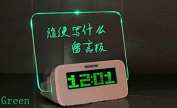 Domire LED Digital Alarm Clock Message Board With green Highlighter