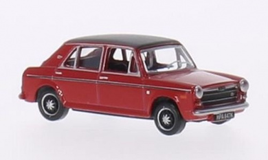 Austin 1300, red/matt-black, RHD, Model Car, Ready-made, Oxford 1:76
