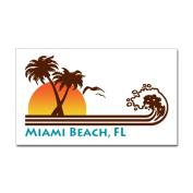 CafePress Miami Beach FL Rectangle Sticker Sticker Rectangle - 3x5 White