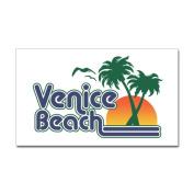 CafePress Venice Beach Rectangle Sticker Sticker Rectangle - 3x5 White