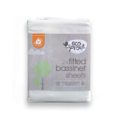 Eco Sprout Organic Bassinette Sheet Fitted 2 Pack