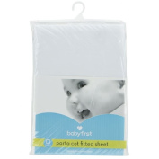 Baby First Portacot Fitted Sheet White