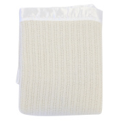 Lullaby Dreams 100% Pure Wool Cot Blanket Cream
