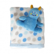 Lullaby Dreams Blue Soft Toy & Spot Blanket