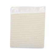 Lullaby Dreams Pure Wool Baby Blanket Cream