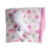 Lullaby Dreams Pink Soft Toy & Spot Blanket