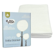 Eco Sprout Organic Cellular Baby Blanket 100 x 80 cm