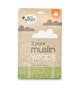 Eco Sprout Organic Muslin Swaddling Wrap 2 Pack