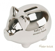 Bambino Baby Christening Gifts. Silverplated Piggy Money Bank