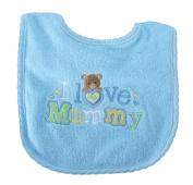 Babyco I Love Mummy Bib Blue