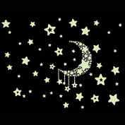 Moon Star Glow in Dark Wall Sticker