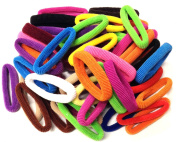 Allsorts® 50 Thick Bright Endless Ponios Snag Free Hair Accessory for Girls