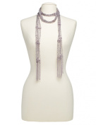Boston & Bailey Skinny Beaded Scarf