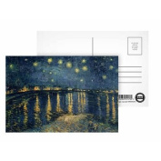 The Starry Night, 1888 (oil on canvas) by Vincent van Gogh - Postcard (Pack of 8) - Highest Quality