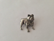 D14 Bulldog pin badge fine english pewter pin badge with a prideindetails gift package