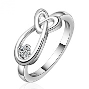 Wholesale Lady/women Classic hot fashion Sterling Silver Rings Size Q Xmas Gifts