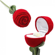 Rose Heart Valentine Jewellery Ring Earrings Trinket Gift Box Case,Red Red