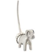 Silver coloured Dog ring holder