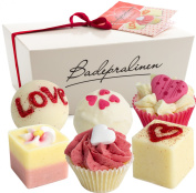 "BRUBAKER Cosmetics 6 Handmade ""Wild at Heart"" Spa Bath Bombs Bath Melts Gift Set - All Natural Vegan, Organic Shea Butter, Cocoa Butter and Olive Oil Moisturise Dry Skin"