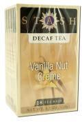 Stash Tea Decaffeinated Tea Blends Vanilla Nut Creme 18 foil tea bags